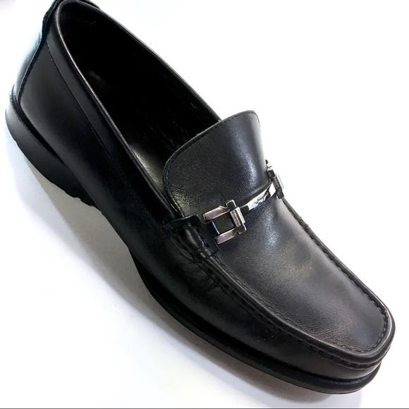 Salvatore Ferragamo Black Leather Loafers Sz. 10.5